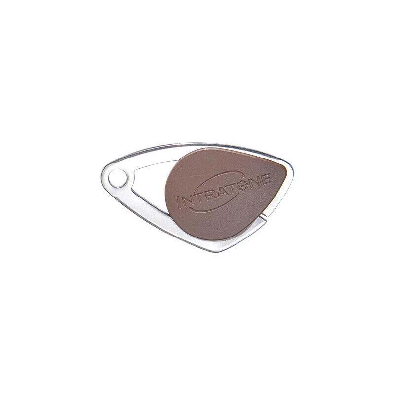 Badge électronique Mifare inox Marron - Intratone - 08-0107
