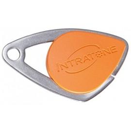 Badge électronique Mifare inox Orange - Intratone - 08-0108