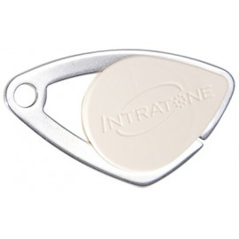 Badge électronique Mifare inox Ivoire - Intratone - 08-0110