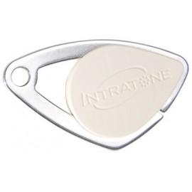 Badge électronique Mifare inox Ivoire - Intratone - 08-0110