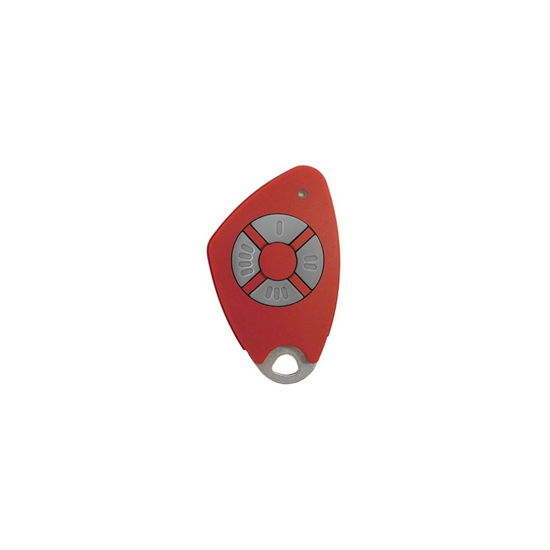 Télécommande 4 canaux bi-technologie - Radio / Mifare - Rouge - Intratone - 09-0117