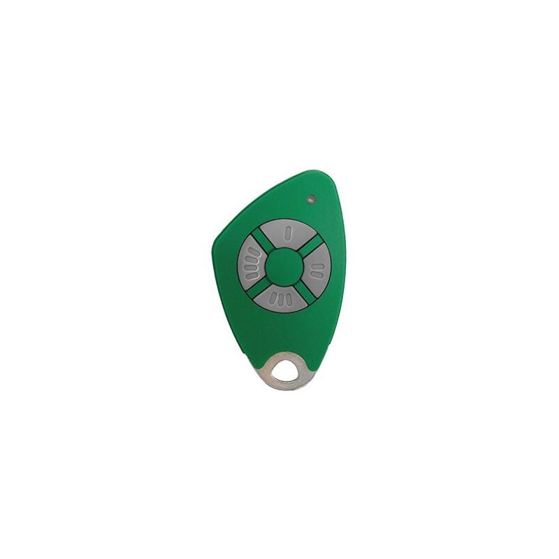Télécommande 4 canaux bi-technologie - Radio / Mifare - Verte - Intratone - 09-0118