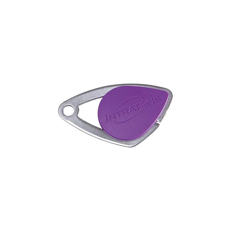 Badge électronique Mifare inox Violet - Intratone - 08-0109
