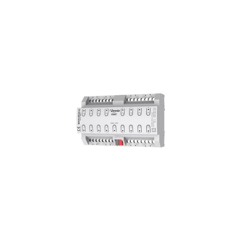MAXinBOX 16 - Actionneur 16 sorties 16A KNX multifonction - Zennio