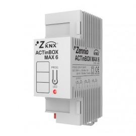 ACTinBOX MAX 6 - Actionneur 6 sorties KNX multifonction - Zennio - ZN1IO-AB60
