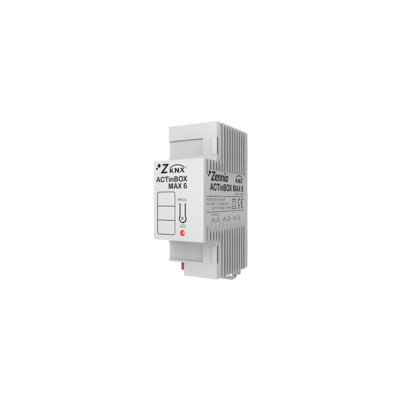 ACTinBOX MAX 6 - Actionneur 6 sorties KNX multifonction - Zennio