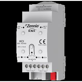 KCI 4 S0 - Interface KNX pour Compteurs de Consommation - Zennio - ZRX-KCI4S0