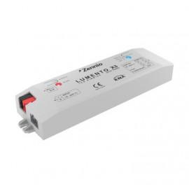 Lumento X3 - Contrôleur LED RGB / 3 Canaux indép. Contrôle par tension. 12-24V - Zennio