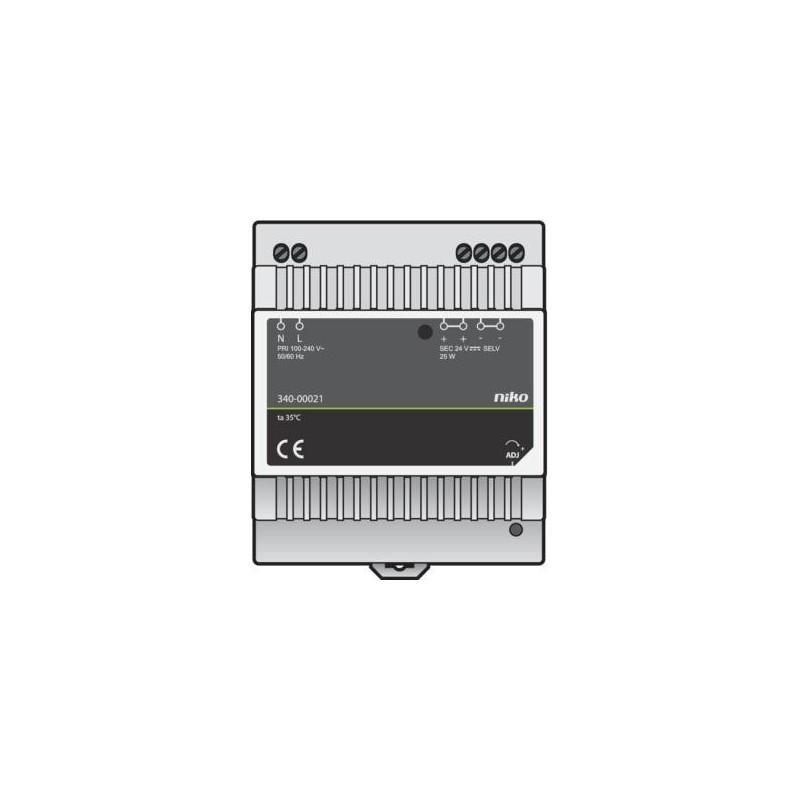 Alimentation rail DIN 24VDC, 25W pour LED Niko Home Control