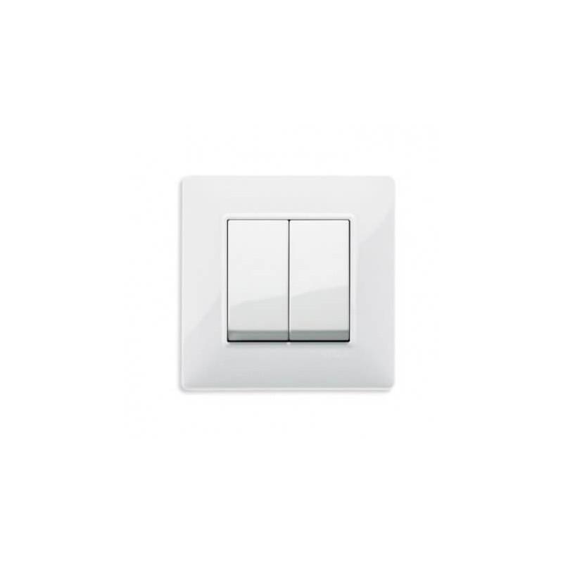 Interrupteur V.V. blanc Plana -2 touches - Vimar