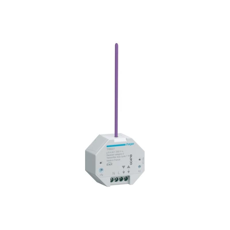 TRB221 - 1 Sortie VR à encastrer KNX radio QL - Hager