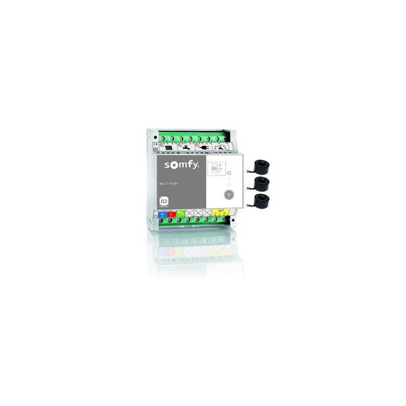Capteur de consommation électrique - 3 anneaux de mesure - Pompe à chaleur - Somfy