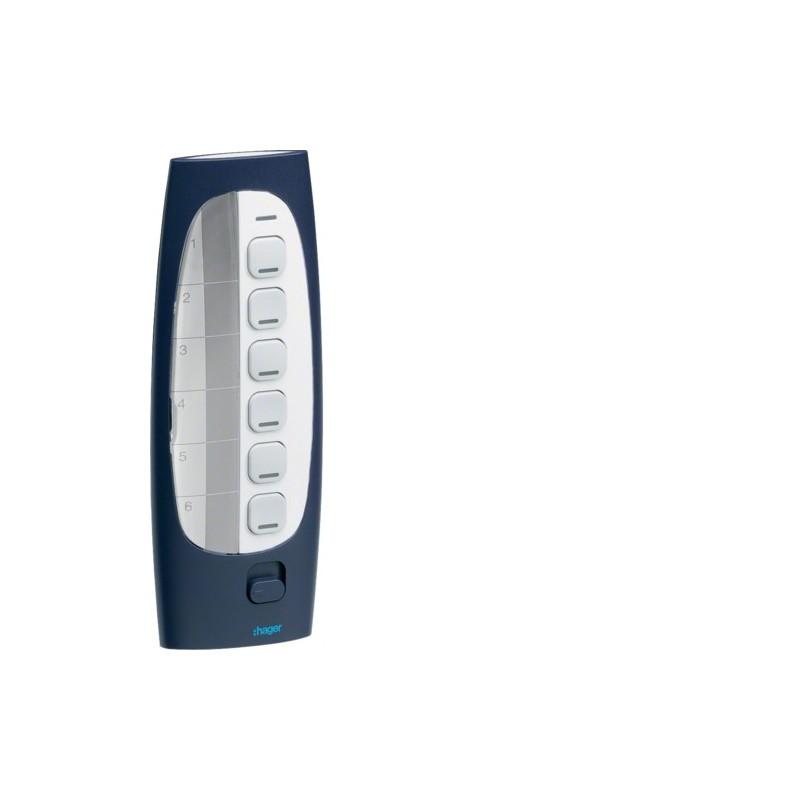 TU418 - Télécommande 6 BP 18E KNX radio QL - Hager