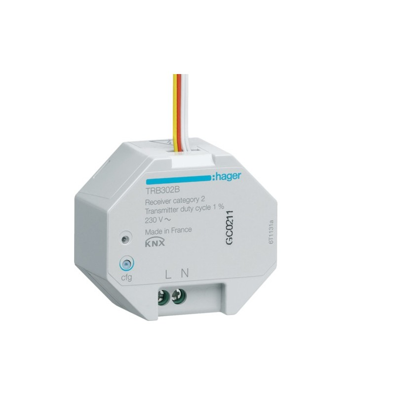 TRB302B - Module 2 Entrées à encastrer 230V KNX radio QL - Hager