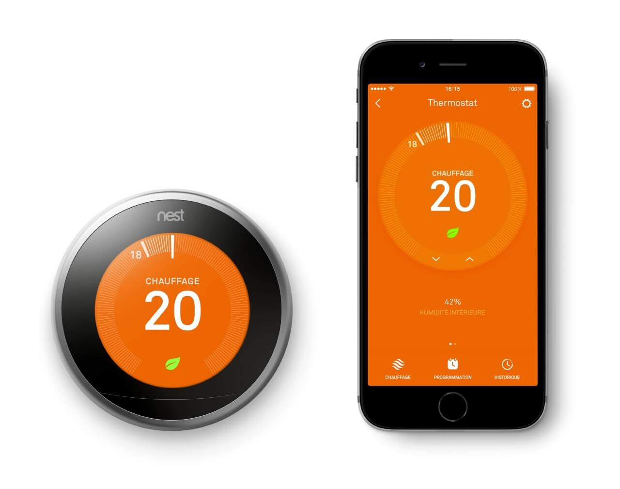Nest Learning 3ème génération - Thermostat connecté