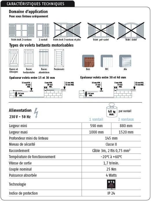 moteur de volets battants synapsia somfy 2401225. Black Bedroom Furniture Sets. Home Design Ideas
