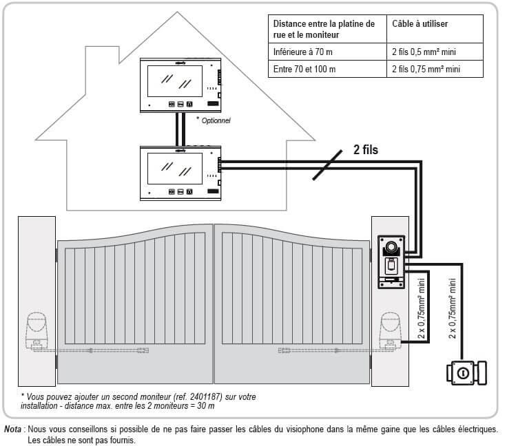portier visiophone v600 v1 2 noir somfy 2401297. Black Bedroom Furniture Sets. Home Design Ideas